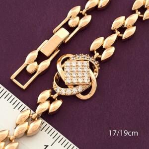 Интересный браслет «Совершенство» с красивым рисунком и позолотой купить. Цена 265 грн