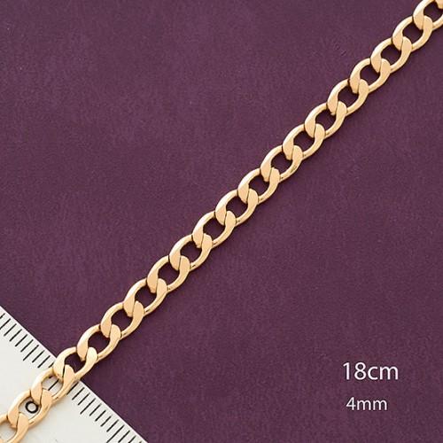 Позолоченный браслет с шлифованным панцирным плетением купить. Цена 175 грн