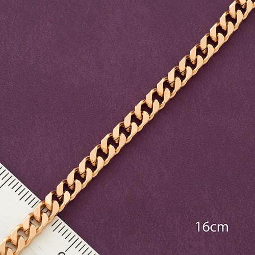 Простой браслет-цепочка панцирного плетения из медзолота купить. Цена 175 грн