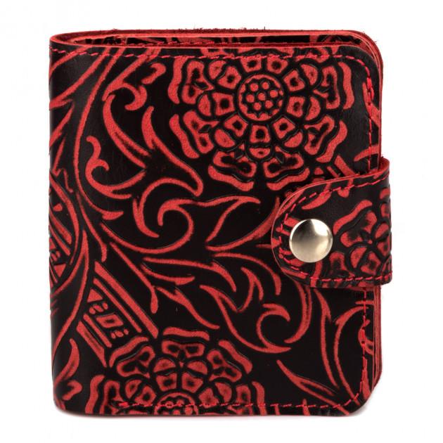 Неповторимый кошелёк «KAFA» из качественной кожи с изображением цветов купить. Цена 485 грн
