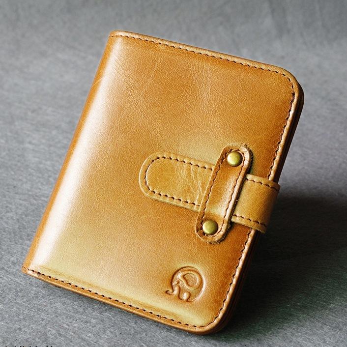 Ультратонкий кошелёк «Joyir» из масляной кожи песочного цвета купить. Цена 585 грн