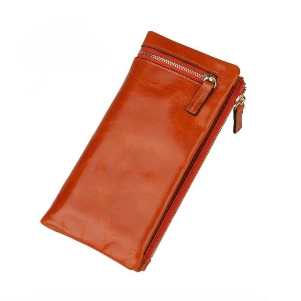 Компактный кошелёк «Joyir» из качественной масляной кожи оранжевого цвета купить. Цена 885 грн