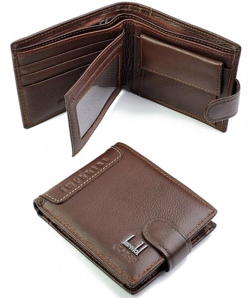 Коричневый бумажник «Imperial Horse» из качественной натуральной кожи купить. Цена 499 грн