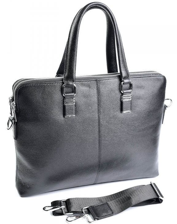 Классический мужской портфель «Solana» на два отделения из натуральной зернистой кожи купить. Цена 2590 грн