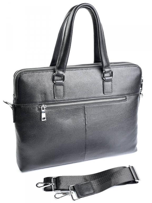 Классический мужской портфель «Solana» на два отделения из натуральной зернистой кожи фото 1