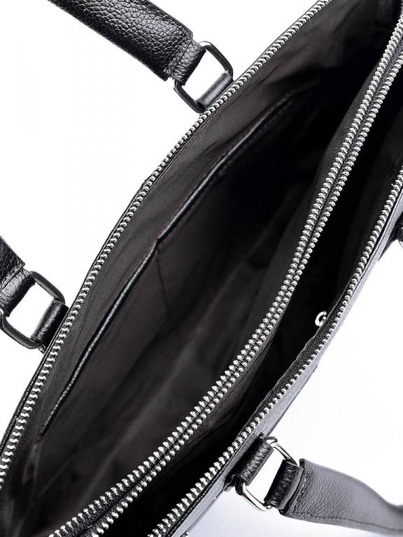 Классический мужской портфель «Solana» на два отделения из натуральной зернистой кожи фото 2