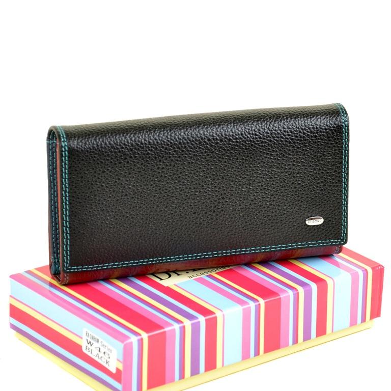 Практичный женский кошелёк «Dr.Bond» из разноцветной натуральной кожи купить. Цена 790 грн