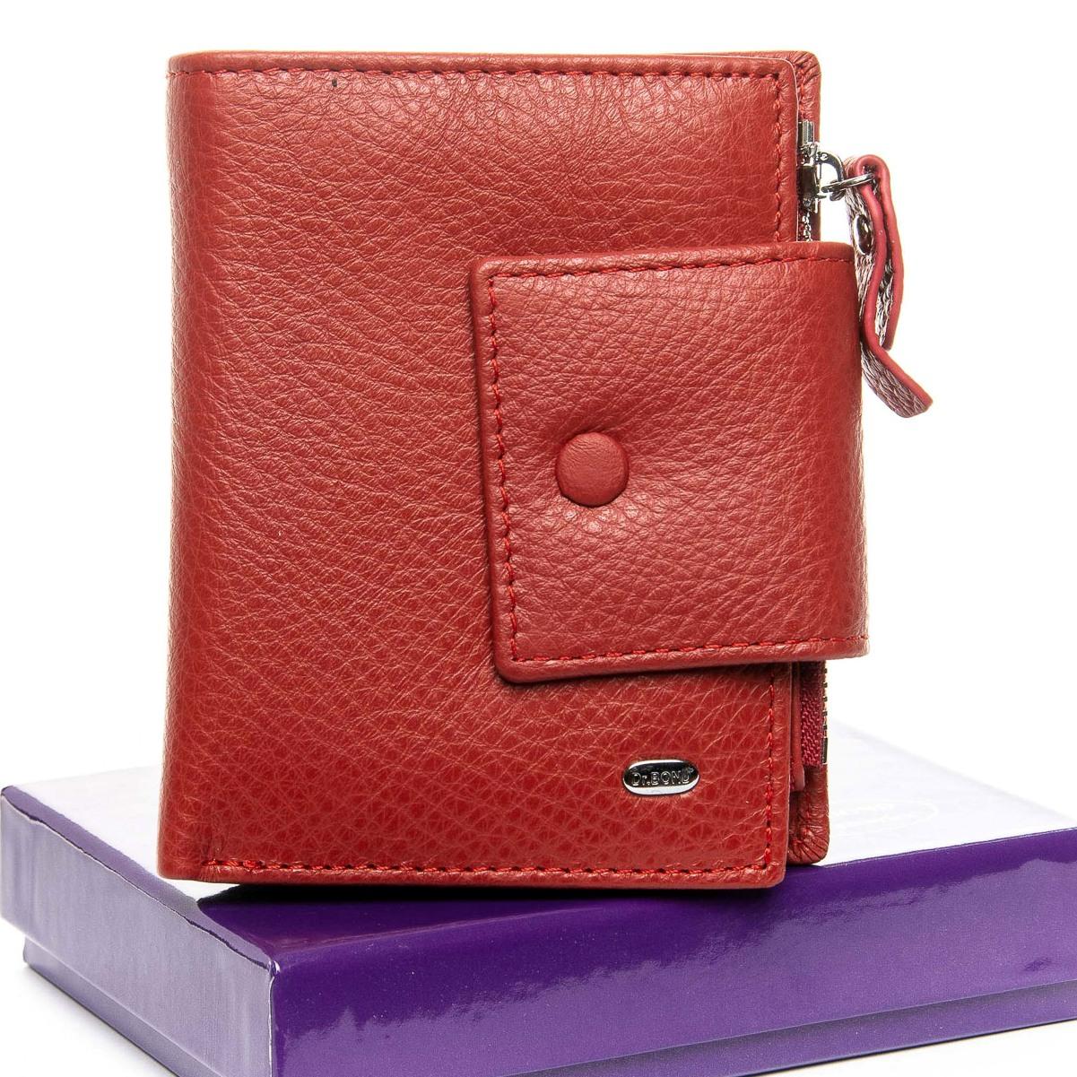 Интересный кошелёк «Dr.Bond» красного цвета из мягкой качественной кожи купить. Цена 698 грн