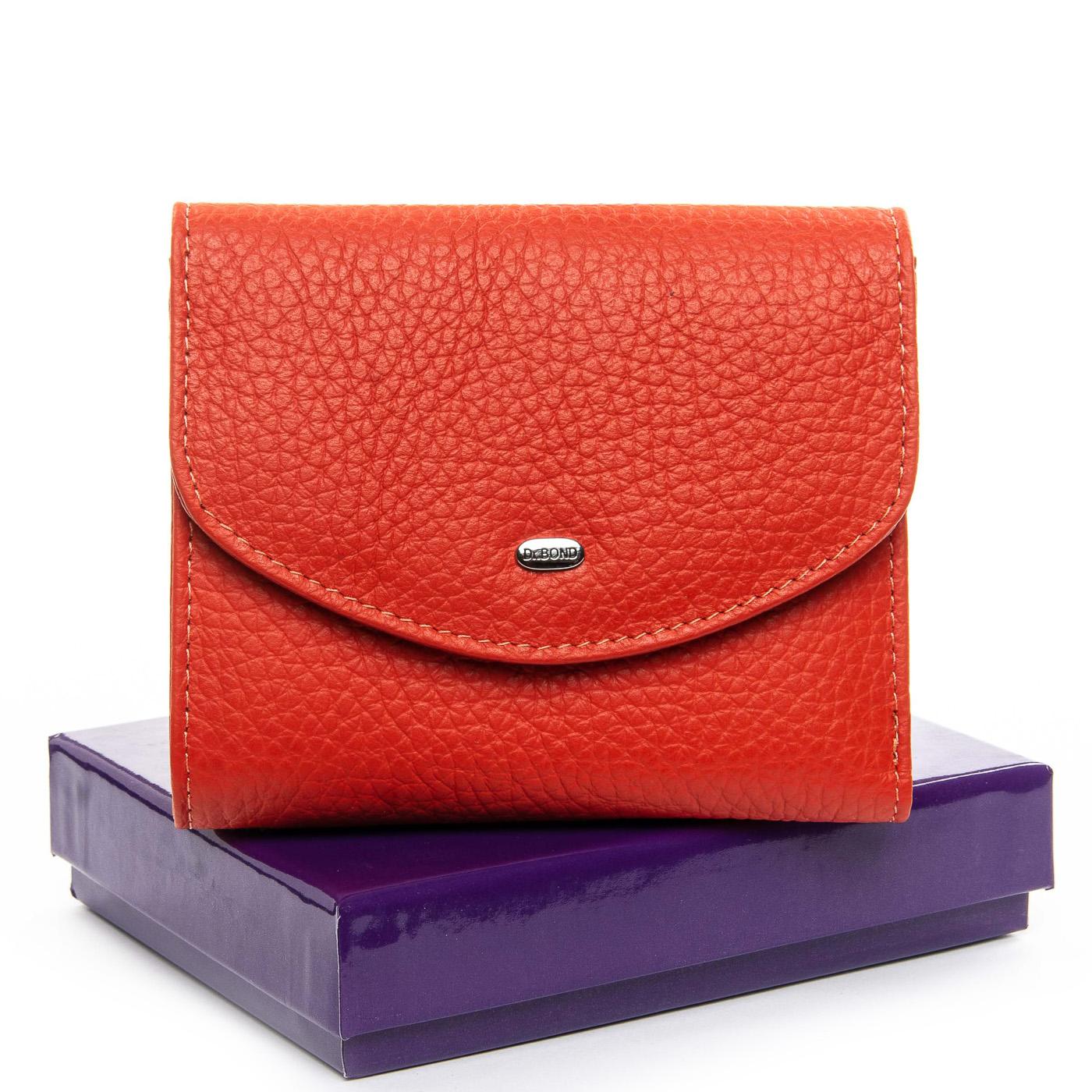 Молодёжный кошелёк «Dr.Bond» оранжевого цвета из мягкой кожи купить. Цена 599 грн
