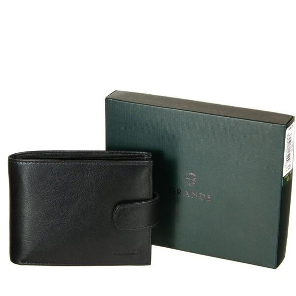 Солидный мужской бумажник «Grande» из гладкой качественной кожи купить. Цена 998 грн