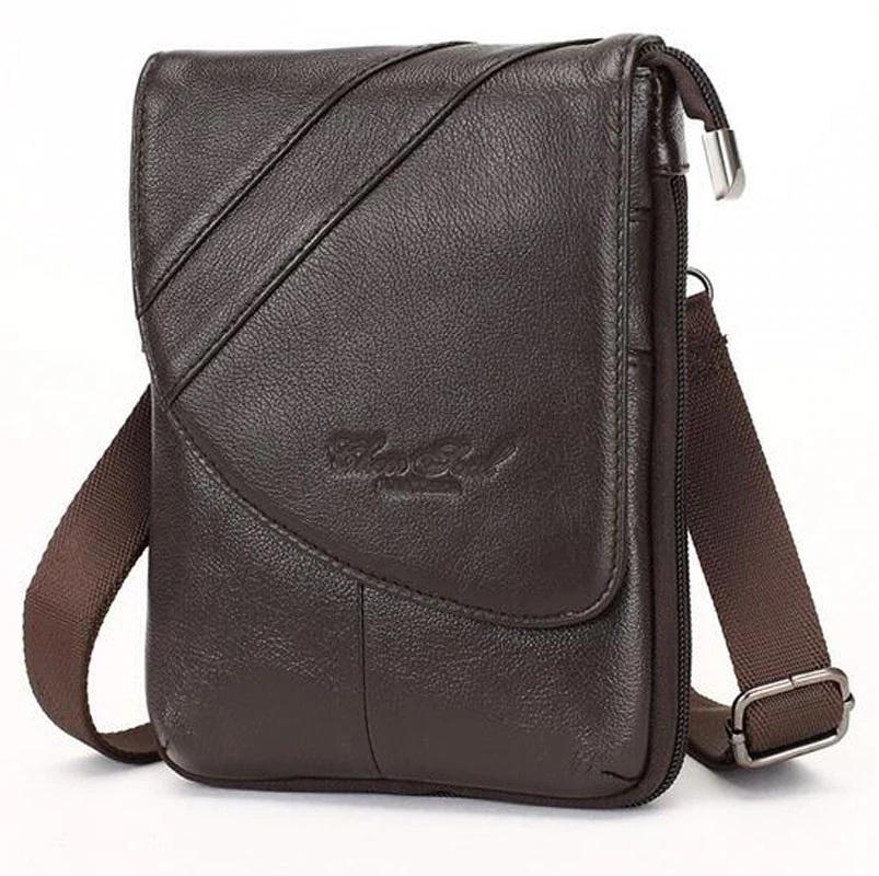 Аккуратная мужская сумка «Cheer Soul» из мягкой натуральной кожи шоколадного цвета купить. Цена 1280 грн