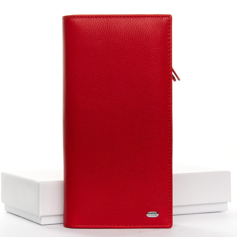 Практичный кошелёк-клатч «Dr.Bond» алого цвета из гладкой кожи купить. Цена 899 грн