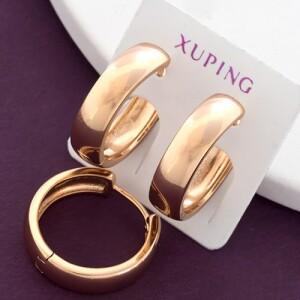 Обычные серьги «Кольца гладкие» покрытые золотым напылением купить. Цена 110 грн
