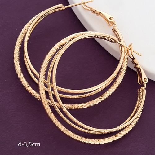 Отличные серьги «Кольца тройные» от производителя Xuping купить. Цена 185 грн