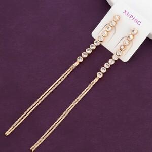 Длинные тонкие серьги «Ламинарии» из камней и цепочек с позолотой купить. Цена 275 грн