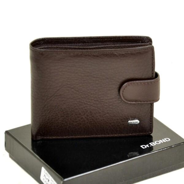 Классический мужской бумажник «Dr.Bond» из мягкой кожи коричневого цвета купить. Цена 590 грн
