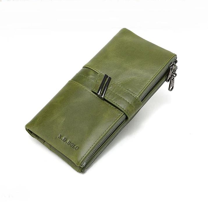 Модный кошелёк «X.D.Bolo» красивого оливкового цвета из масляной кожи купить. Цена 899 грн