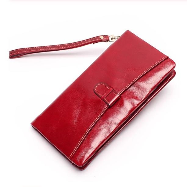 Мягкий кошелёк «Joyir» на молнии из тонкой масляной кожи алого цвета купить. Цена 885 грн