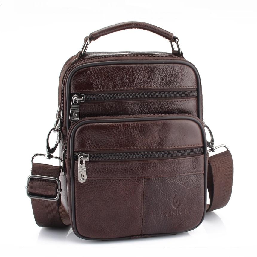 Коричневая сумка «ZZnick» небольшого размера из мягкой натуральной кожи купить. Цена 970 грн