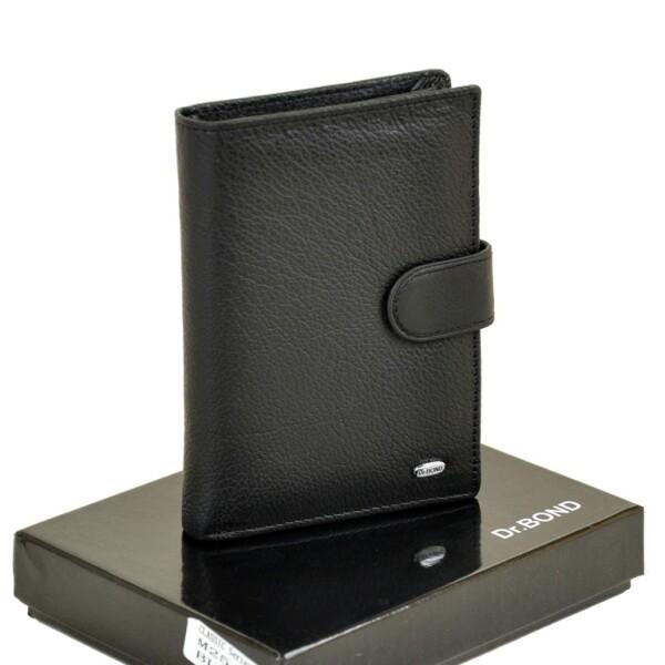 Кожаное чёрное портмоне «Dr.Bond» с книжечкой для автодокументов купить. Цена 599 грн