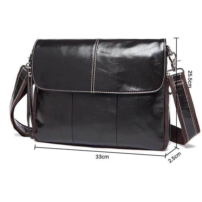 Деловая мужская сумка «Westal» большого размера из мягкой глянцевой натуральной кожи купить. Цена 1899 грн