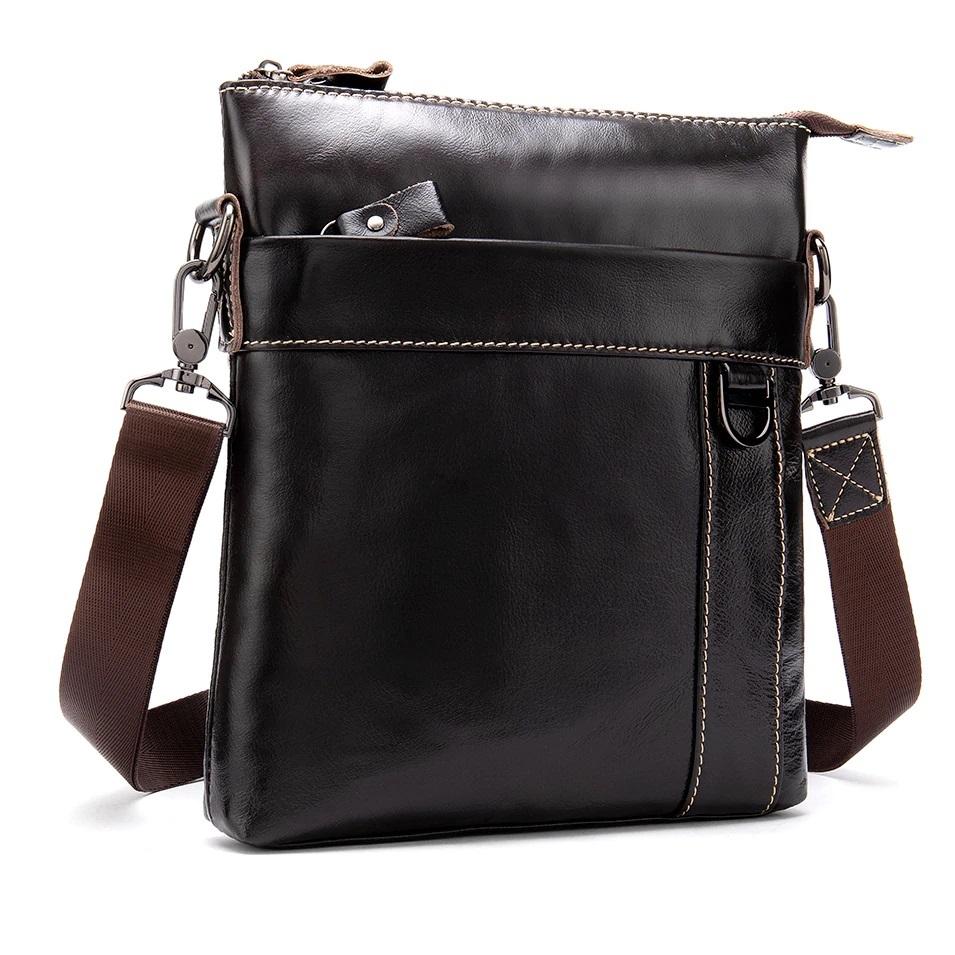 Мягкая мужская сумка «Westal» без клапана из глянцевой натуральной коричневой кожи купить. Цена 1560 грн