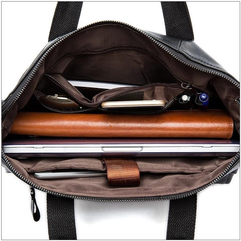 Деловой мужской портфель «Westal» в винтажном стиле из мягкой масляной кожи фото 1