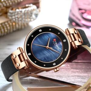 Стильные часы «Curren» с красивым циферблатом и чёрным ремешком купить. Цена 899 грн