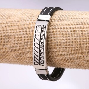 Силиконовый браслет «Минотавр» с рифлёной металлической пластиной купить. Цена 165 грн