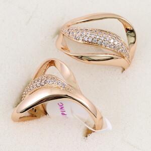 Необычное кольцо «Волнение» с высококачественным золотым покрытием купить. Цена 185 грн