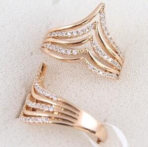Красивое кольцо «Каскадное» оригинальной формы от Xuping купить. Цена 199 грн