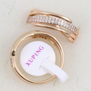 Незабываемое кольцо «Виола» красивой формы с фианитами и позолотой купить. Цена 185 грн