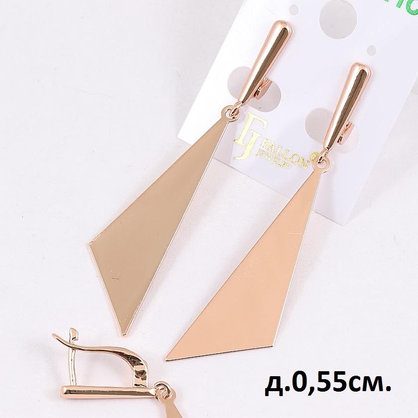 Геометрической формы серьги «Симплексы» из медицинского золота купить. Цена 155 грн