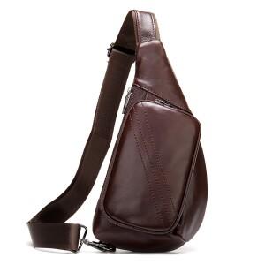 Отличная мужская сумка-кобура «Westal» из гладкой натуральной кожи шоколадного цвета купить. Цена 1290 грн