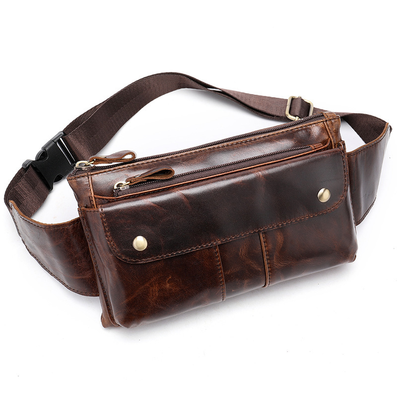 Шикарная сумка на пояс «Westal» из глянцевой натуральной кожи купить. Цена 1280 грн