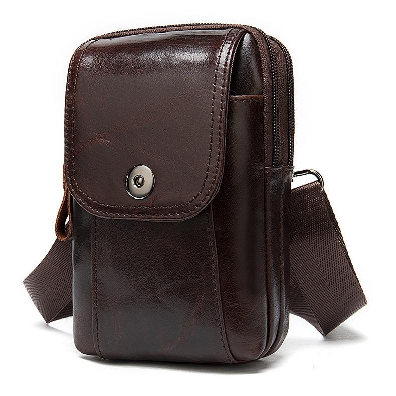 Маленькая сумка «Westal» из натуральной глянцевой кожи коричневого цвета купить. Цена 980 грн