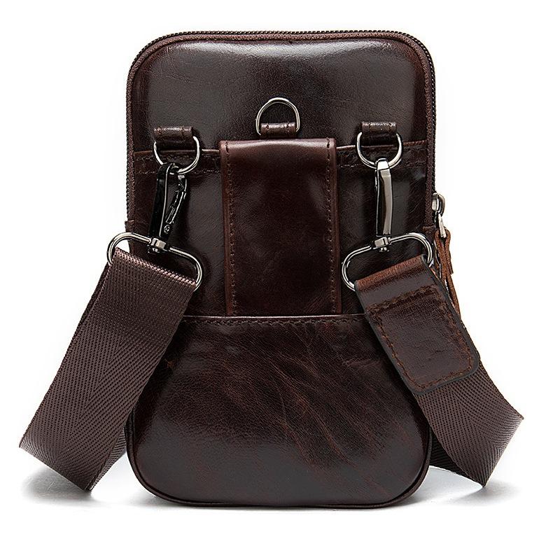 Маленькая сумка «Westal» из натуральной глянцевой кожи коричневого цвета фото 1