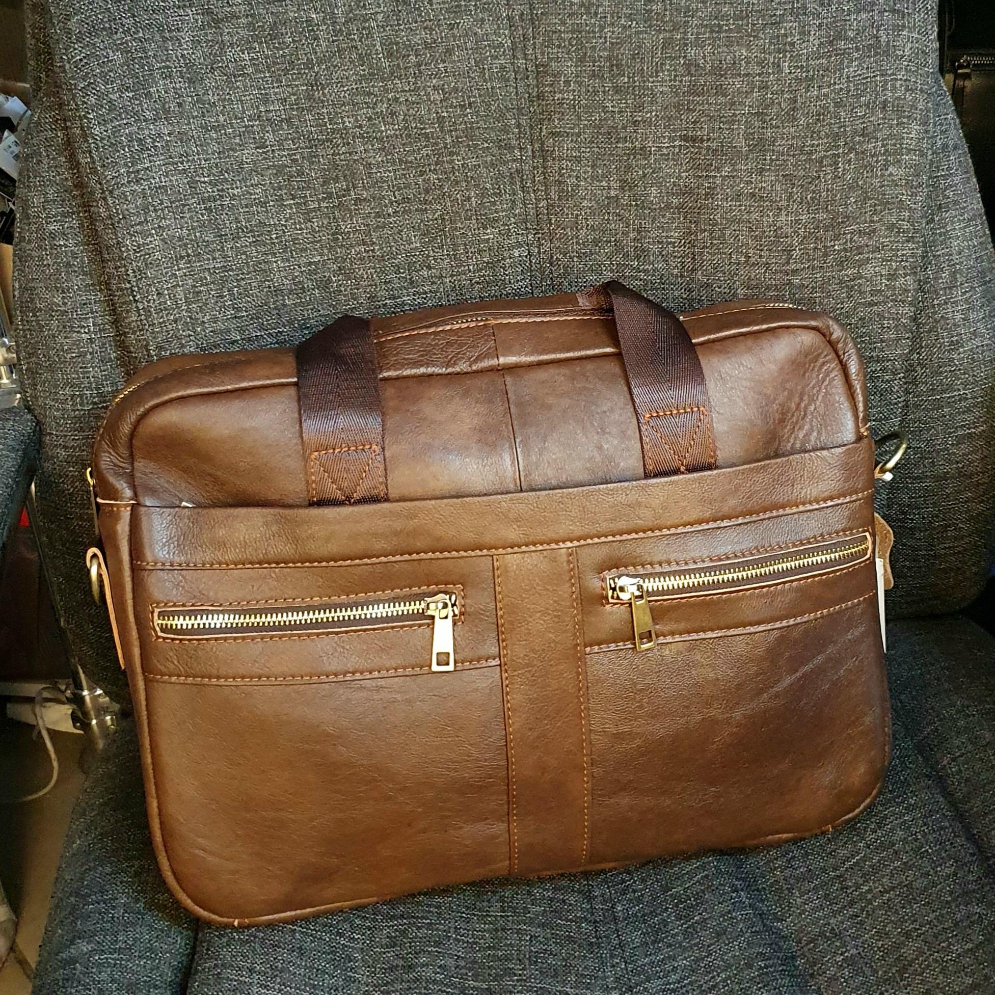 Винтажный мужской портфель «Westal» из мягкой натуральной кожи рыжего цвета купить. Цена 1990 грн