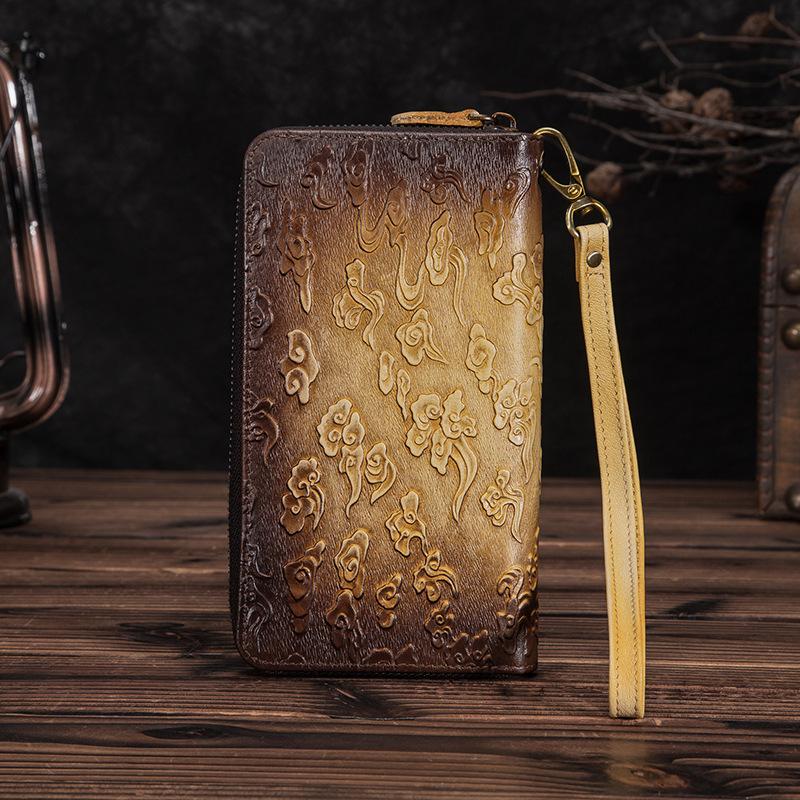 Необычный мужской клатч «Westal» ручной работы из натуральной кожи фото 1