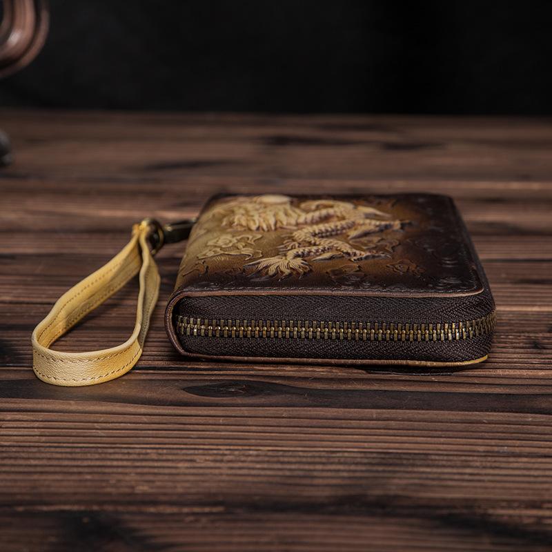Необычный мужской клатч «Westal» ручной работы из натуральной кожи фото 2