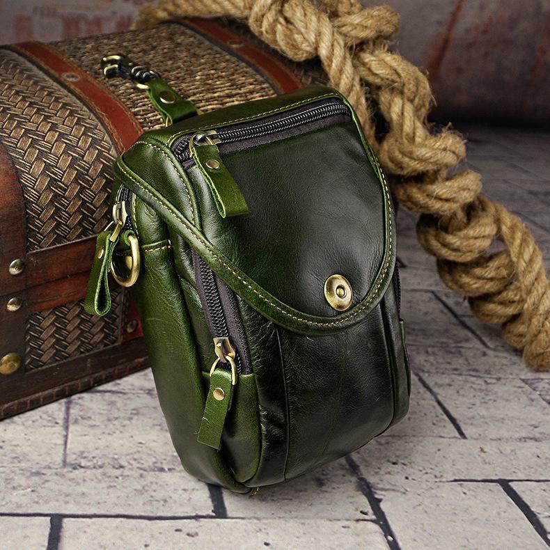 Маленькая мужская сумка «Westal» из тонкой масляной кожи изумительного зелёного цвета купить. Цена 1180 грн