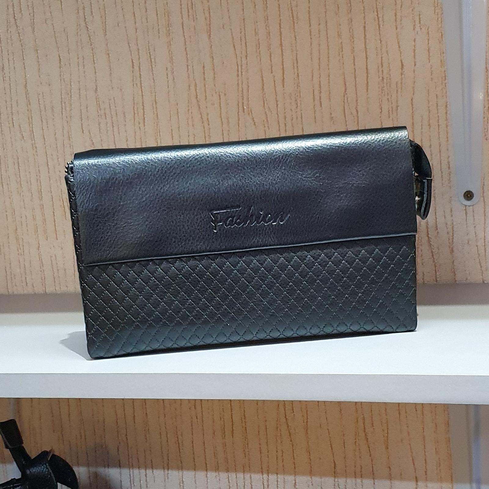Качественный мужской клатч «Fashion» чёрного цвета из гладкой экокожи купить. Цена 595 грн
