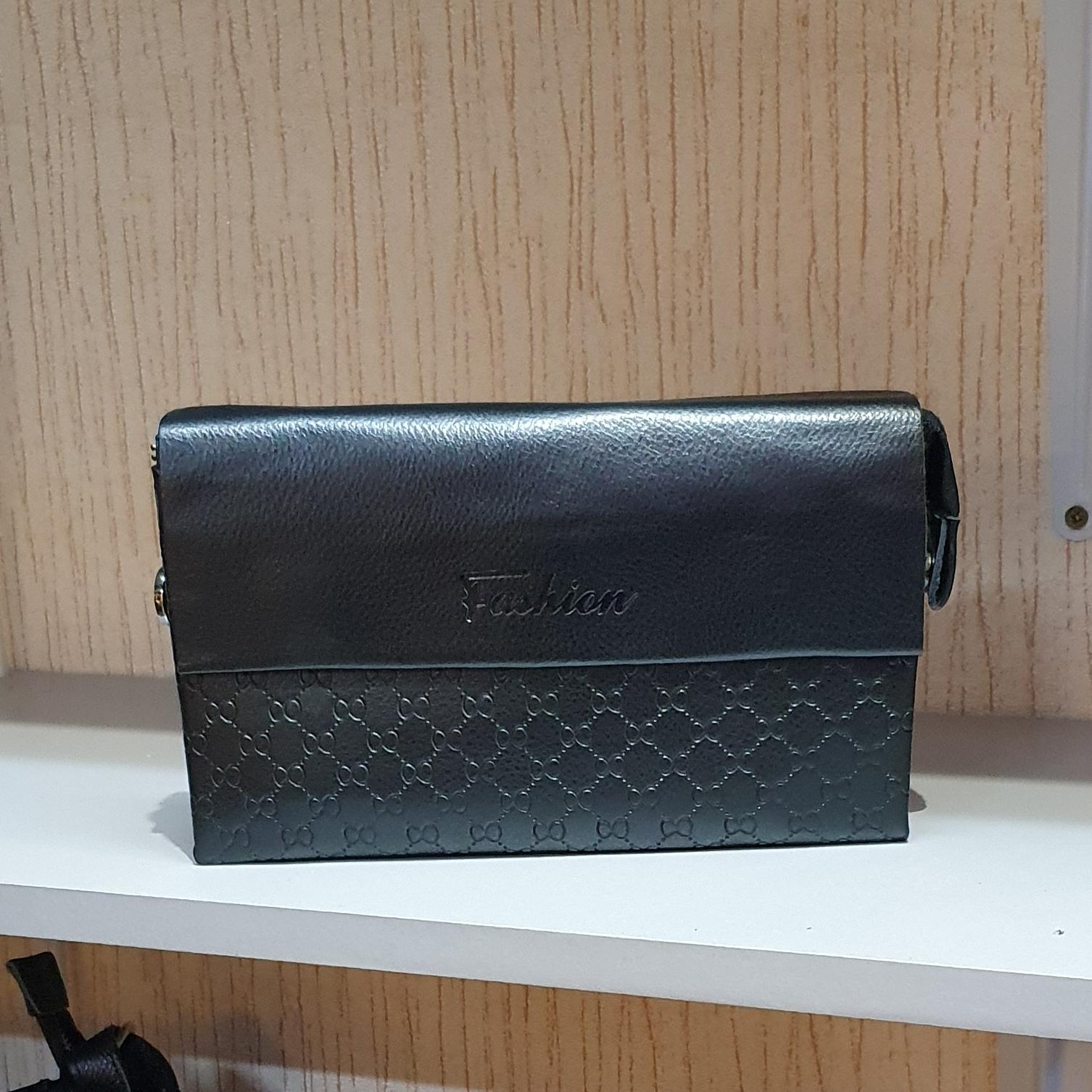 Недорогой мужской клатч «Fashion» из гладкой чёрной экокожи купить. Цена 585 грн