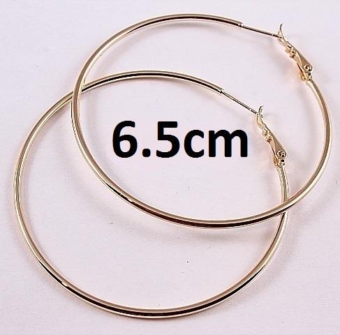 Крупные серьги «Кольца гладкие» с качественным золотым покрытием купить. Цена 140 грн
