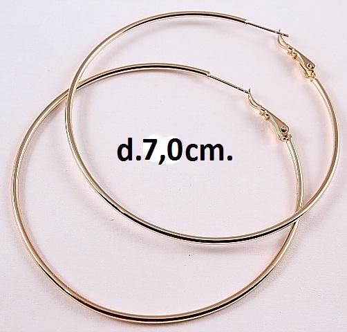 Крупные серьги «Кольца гладкие» с отличной позолотой от Xuping купить. Цена 225 грн
