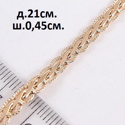 Красивый браслет-цепочка кельтского плетения с высококачественной позолотой купить. Цена 215 грн