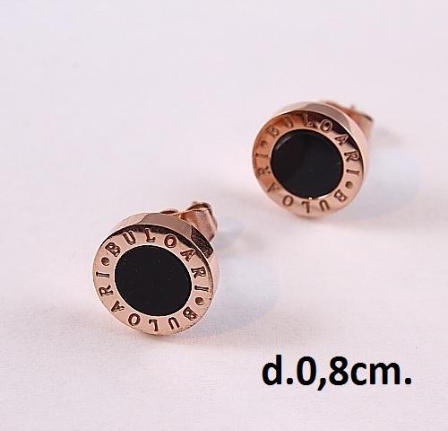 Маленькие серьги-гвоздики «Bvlgari» с высококачественной позолотой купить. Цена 175 грн