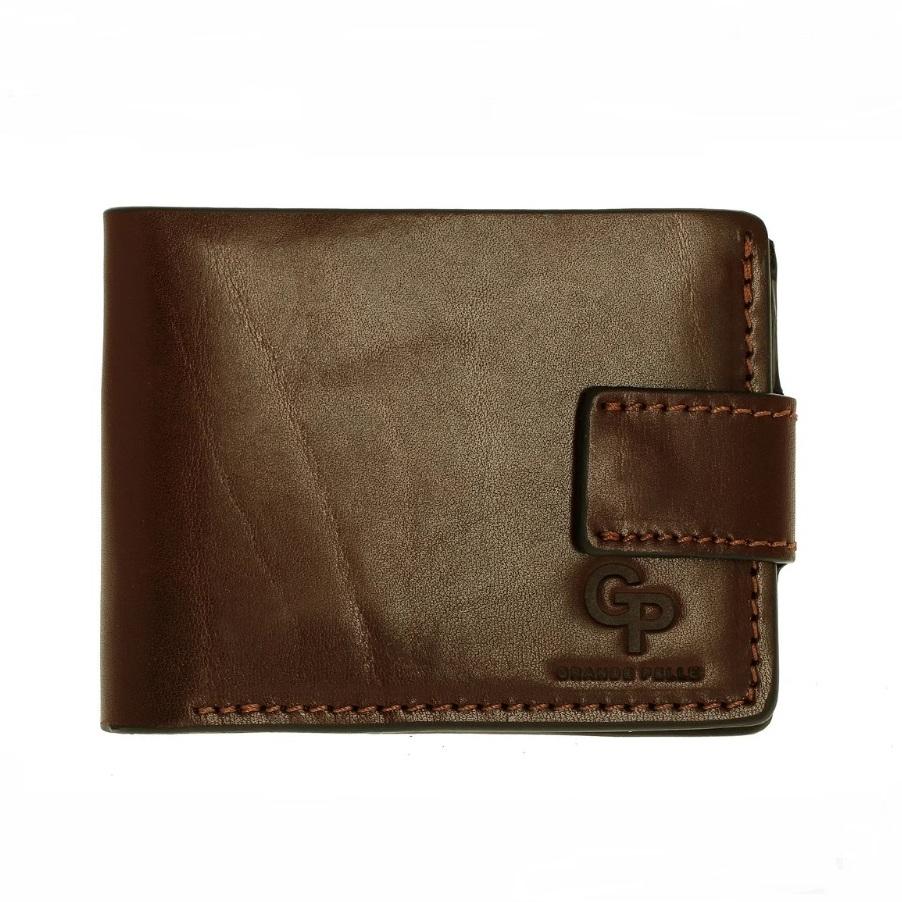 Солидный бумажник «Grande Pelle» из глянцевой итальянской кожи купить. Цена 599 грн