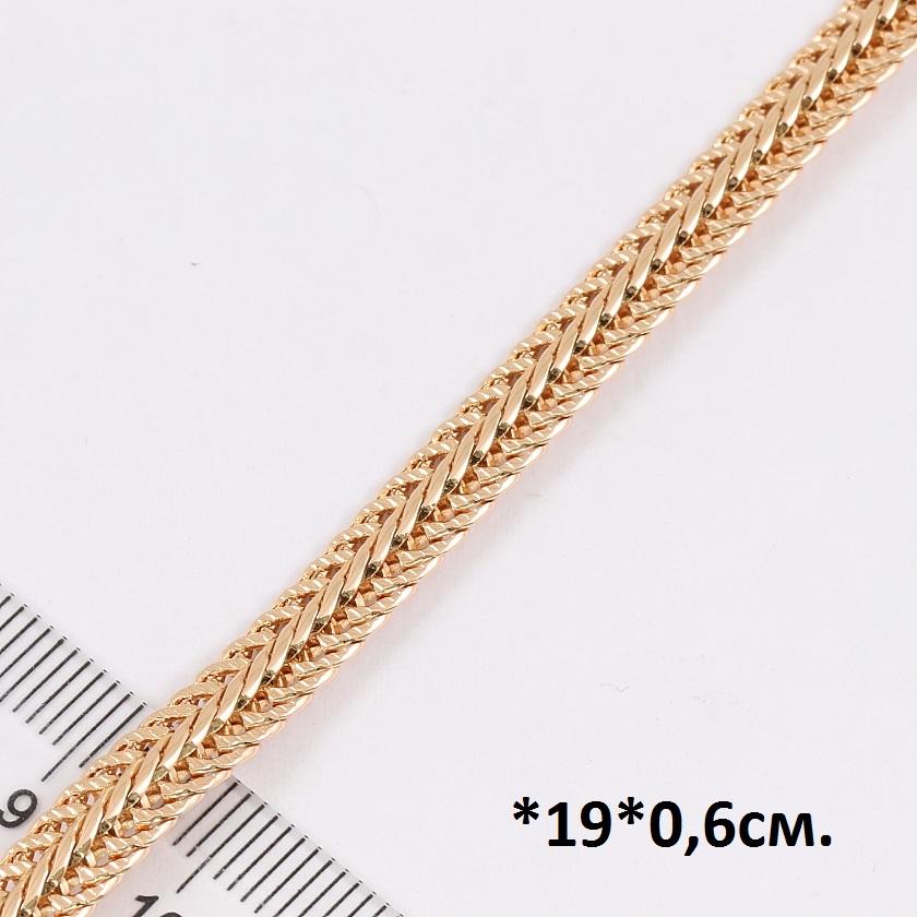 Позолоченный браслет-цепочка мощного и красивого плетения от Xuping купить. Цена 245 грн