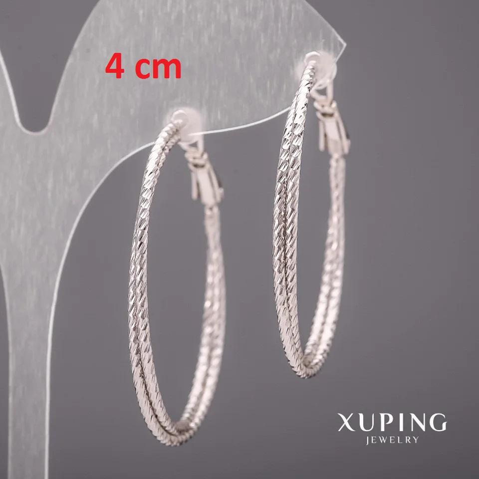 Замечательные серьги «Кольца Двойная спираль» с покрытием из родия купить. Цена 190 грн